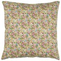 ib laursen housse de coussin coton fleuri marron vert 50 x 50 cm