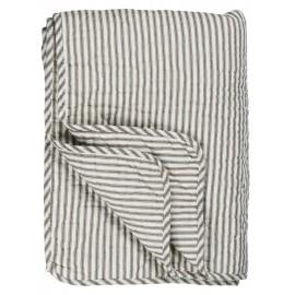 ib laursen couverture dessus de lit coton raye gris blanc 130 x 180 cm