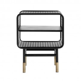 muubs table de chevet metal perfore noir laiton design industriel