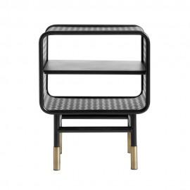 muubs table de chevet metal perfore noir laiton design industriel