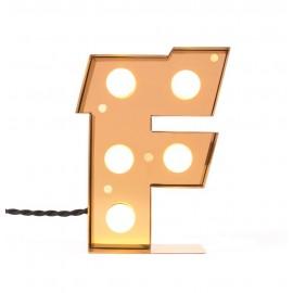 Lampe de table lettre F lumineuse applique led Seletti Caractère