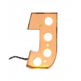 luminaire ambiance applique lettre j metal dore led seletti caractere