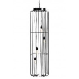 tres grande suspension metal noir cage muubs
