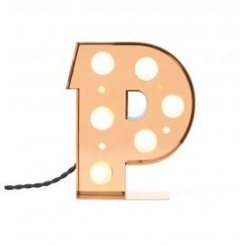 lampe a poser lettre lumineuse applique p alphabet seletti caractere