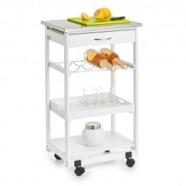 meuble d appoint cuisine desserte a roulettes bois blanc zeller 13772