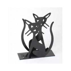 PORTE SERVIETTES EN PAPIER MÉTAL NOIR BLACK CAT