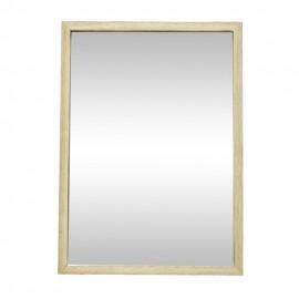 hubsch miroir mural rectangulaire bois clair 35 x 50 cm 889045