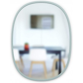 umbra hub miroir mural ovale gris 1013765-918