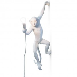 seletti monkey lamp applique murale singe blanc accroche 14881