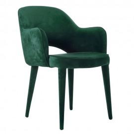 pols potten cosy chaise fauteuil velours vert 550-020-119