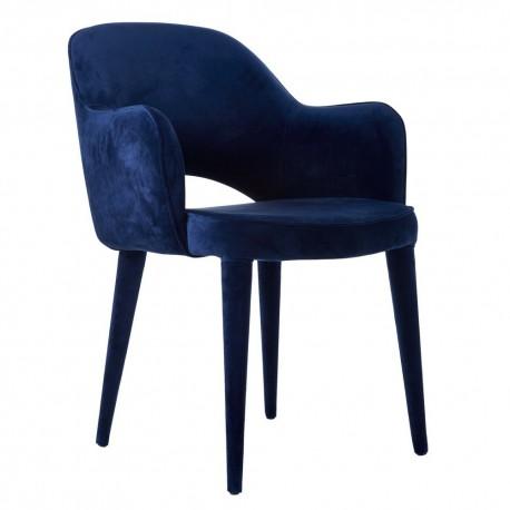 pols potten cosy chaise fauteuil rembourre velours bleu 550-020-096