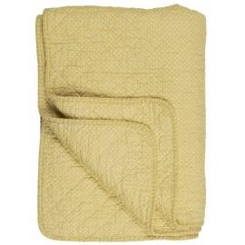 couvre lit boutis coton matelasse jaune petits pois ib laursen 0798-03