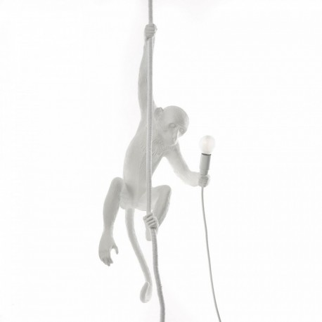 lampe suspension singe blanc seletti monkey lamp14883