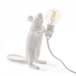 seletti mouse lamp standing lampe de table souris debout blanc 14884
