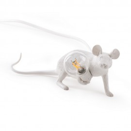 seletti mouse lamp lie down lampe de table souris blanche 14886