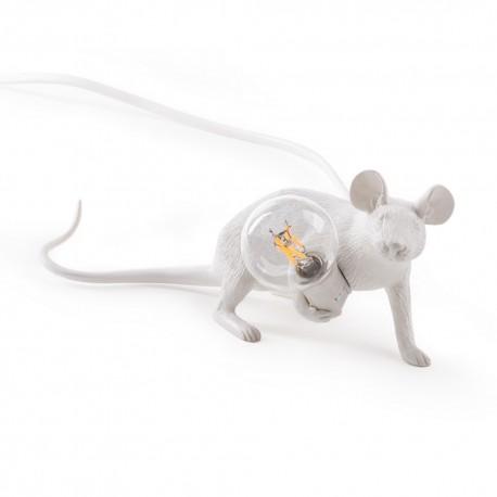 Lampe de table souris Seletti Mouse Lamp blanc