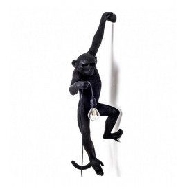 seletti monkey lamp hanging applique murale singe noir 14921