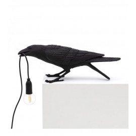 seletti bird lamp playing lampe de table oiseau corbeau joueur 14736