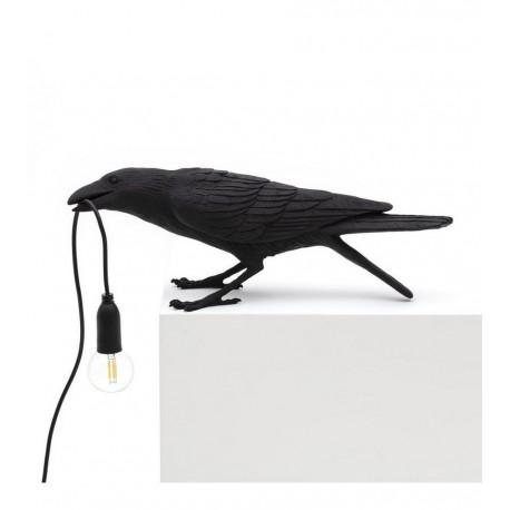 seletti bird lamp playing lampe de table oiseau corbeau joueur 14736