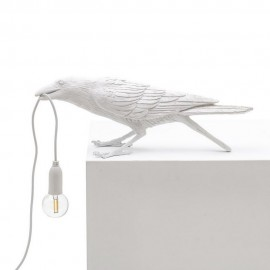 seletti bird lamp playing lampe de table oiseau corbeau blanc 14733
