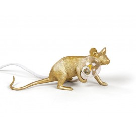 lampe a poser souris doree seletti mouse lamp 14943gld