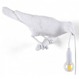 applique oiseau corbeau blanc seletti bird lamp 14731