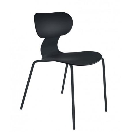 chaise design plastique noir muubs yogo 8020000309