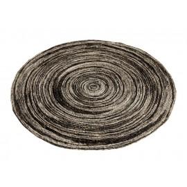 tapis rond gris beige noir fibre de mais muubs sia