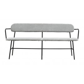 house doctor classico banquette design velours cotele gris clair bf0508
