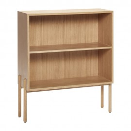 hubsch bibliotheque basse a poser scandinave bois chene clair 880714