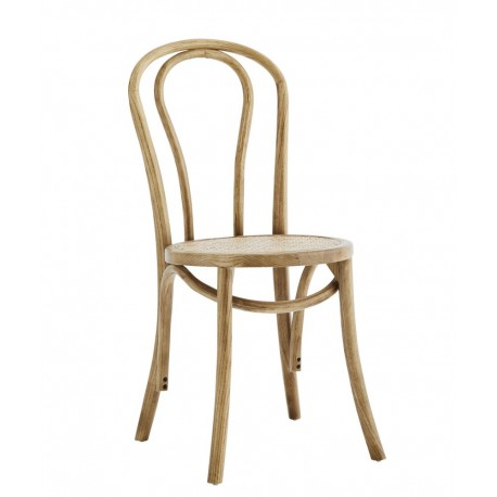 madam stoltz chaise de bistrot vintage bois rotin