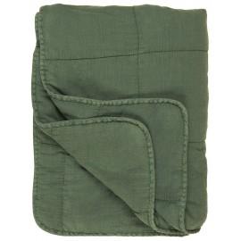 ib laursen courtepointe matelassee coton vert 130 x 180 cm