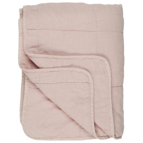 ib laursen courtepointe coton matelasse rose clair uni 130 x 180 cm