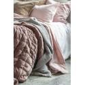 ib laursen housse de coussin rectangulaire velours rose pastel