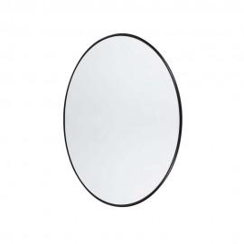 muubs miroir mural ovale acier noir 9010000025