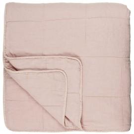 ib laursen couvre lit matelasse coton rose pastel 240 x 240 cm
