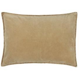 ib laursen housse coussin rectangulaire velours beige miel 50 x 70 cm