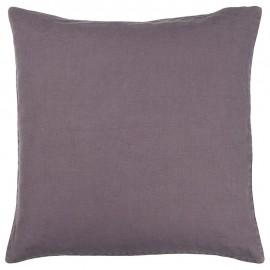 ib laursen housse de coussin carre lin violet mauve 50 x 50 cm