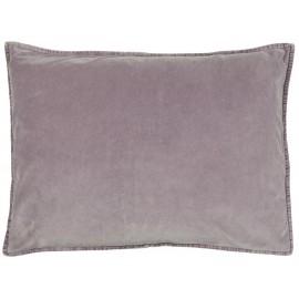ib laursen housse de coussin rectangulaire velours lavande 50 x 70 cm