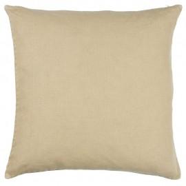 ib laursen housse de coussin lin beige carree 50 x 50 cm