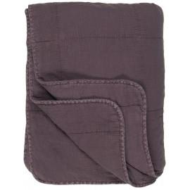 ib laursen boutis matelasse coton uni violet mauve 130 x 180 cm