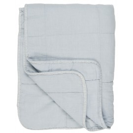 ib laursen boutis matelasse coton uni bleu clair 130 x 180 cm
