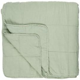 ib laursen couvre lit coton matelasse uni vert clair 240 x 240 cm