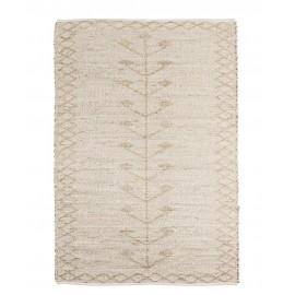 madam stoltz tapis seagrass blanc ecru motifs brodes 120 x 180 cm
