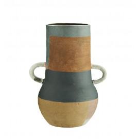 madam stoltz vase terracotta multicolore