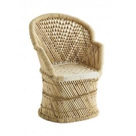 Fauteuil en bois de bambou tressé Madam Stoltz