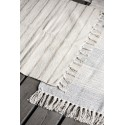 Petit tapis coton rayures IB Laursen écru beige