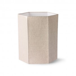 hk living abat jour hexagonal pour lampe de table lin beige naturel
