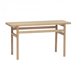 Petit banc bois chêne design épuré Hübsch