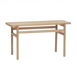 hubsch petit banc bois chene clair design epure 881103